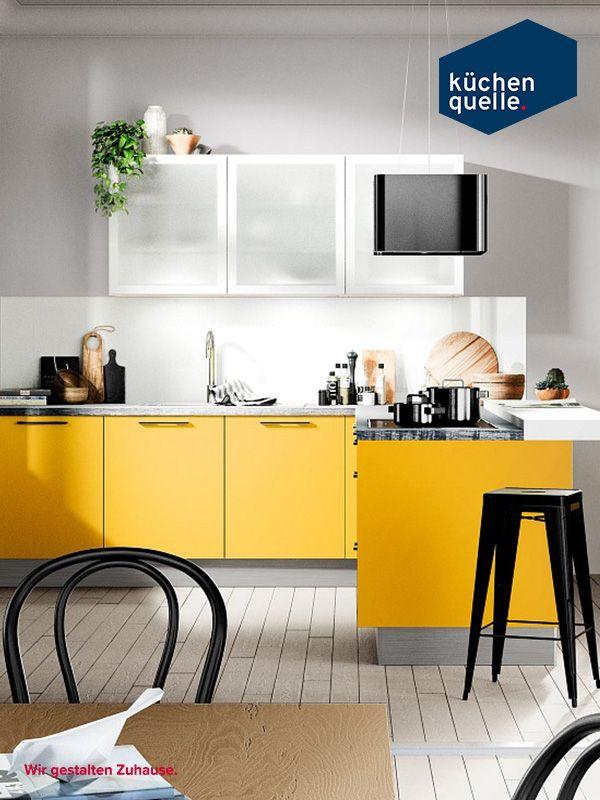 16 best Gelbe Küchen images on Pinterest | Yellow kitchens ...
