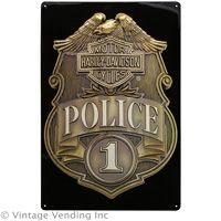 Harley-Davidson Police Shield Tin Sign #harley #police  http://www.retroplanet.com/PROD/28169