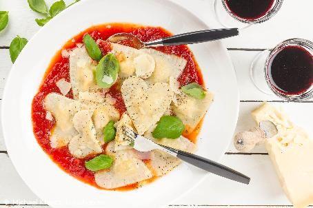Alla hjärtans dag - Recept - Pastahjärtan med tomatsås #allahjartansdag