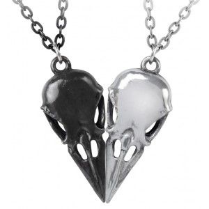 Coeur Crane Bird Skull Necklace Set - New at GothicPlus.com - your source for gothic clothing jewelry shoes boots and home decor.  #gothic #fashion #steampunk