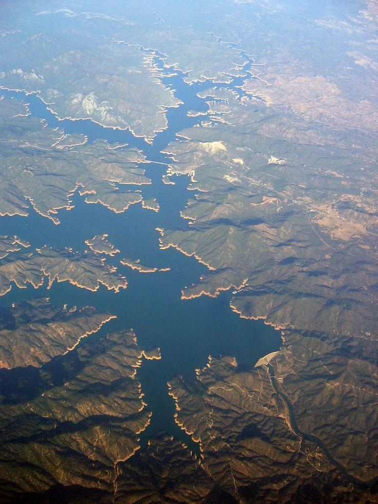 Shasta lake aerial view california camping hacks and for Lake shasta fishing