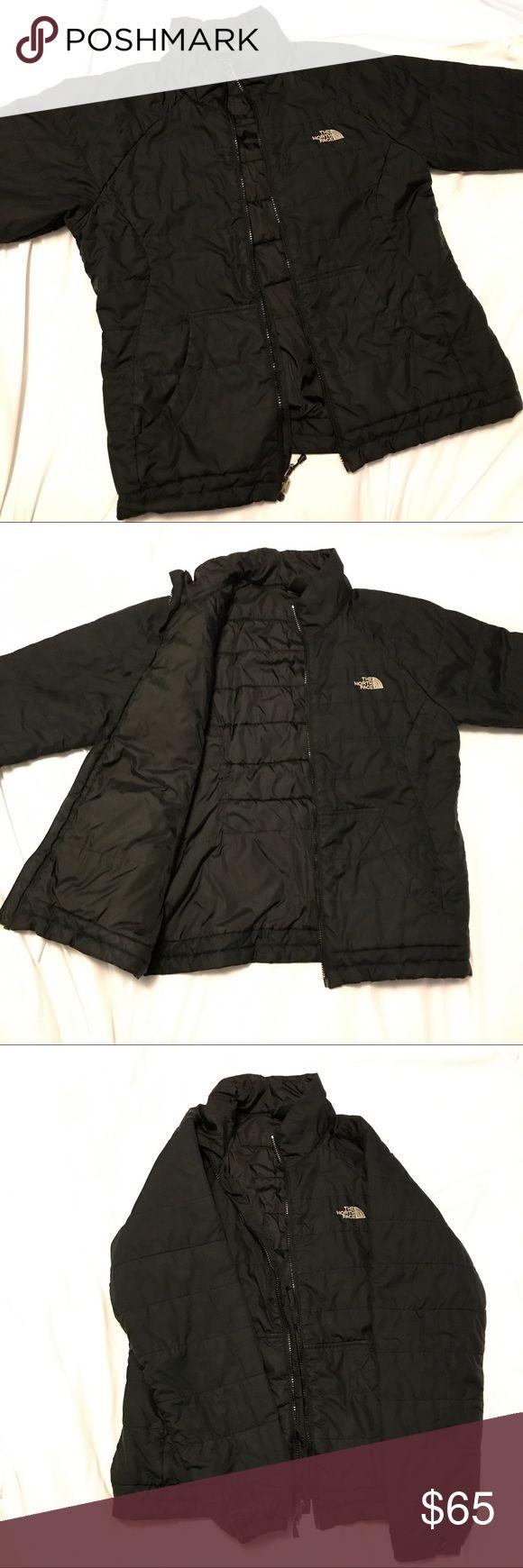 North Face black zip up jacket The North Face black zip up jacket EUC. No flaws. Keeps you warm and is light weight The North Face Jackets & Coats