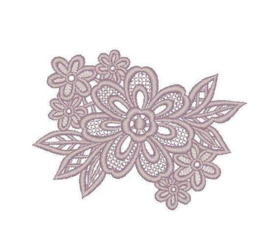 Lace Antique Flower / Digital embroidery / PES от MarinaKurilova