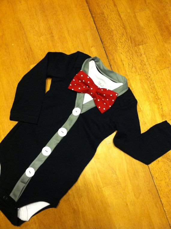 Baby Boys Cardigan Bodysuit and Bow Tie Set, Cardigan Onesie and Bowtie set, Twin Boys Preppy Outfits, Cardigan Onesie, First Birthday