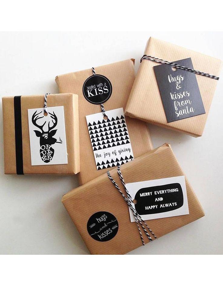 Wrapping! Zoedt Set van 6 kerst cadeaulabels