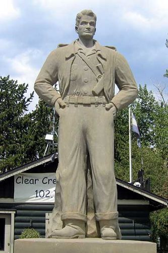 This statue is very well made of the famous comic strip hero created by Milton Caniff.  Idaho Springs, Colorado