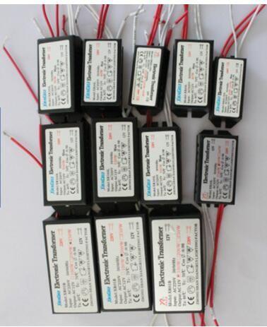 انخفاض الشحن 20 واط 40 واط 50 واط 60 واط 80 واط 200 واط محول الإلكترونية 220 فولت-12 فولت أدى ضوء الهالوجين لمبة مصباح امدادات الطاقة سائق