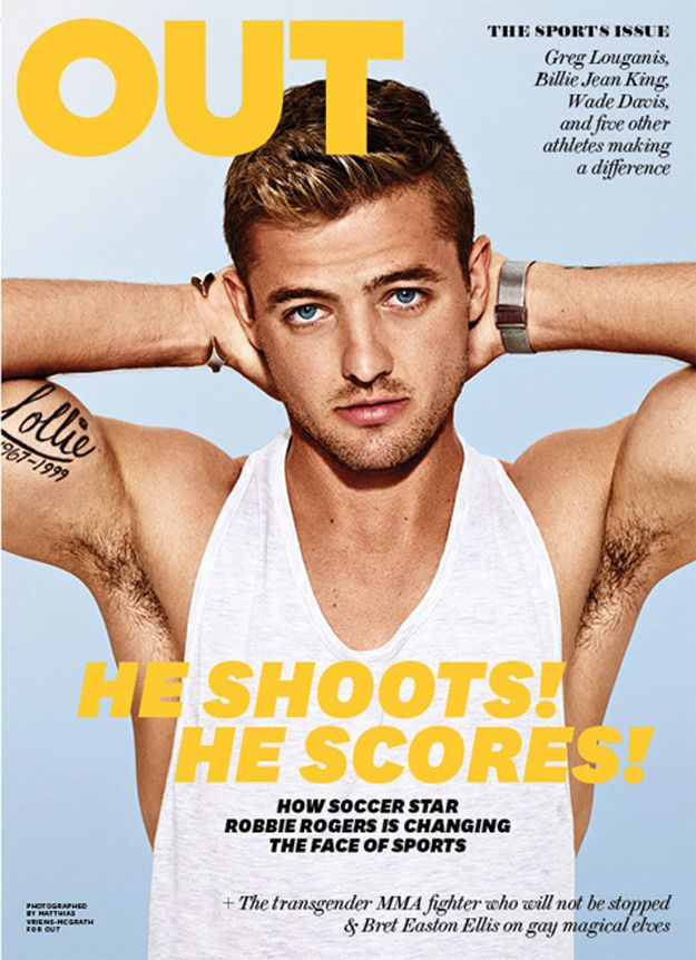 So openly gay soccer player Robbie Rogers graced the cover of OUT Magazine's August Sports Issue… | The 11 Most Perfect Parts Of The Robbie Rogers Out Magazine Cover