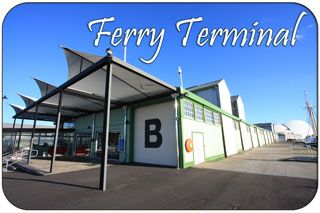 Rottnest Island Farry Terminal on the Fremantle Waterfront