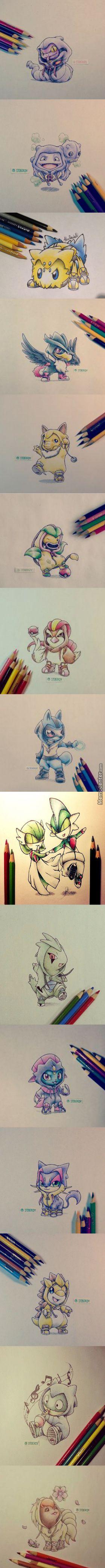 Pokemon in Evolution Costumes Pt. 4