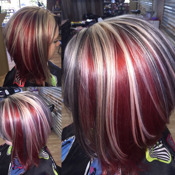 Strawberry Sundae! Hair by Becky Tinsley Schwarzkopf 6-888 with 5-0 Lowlights with a touch of 30 vol. Highlights ......