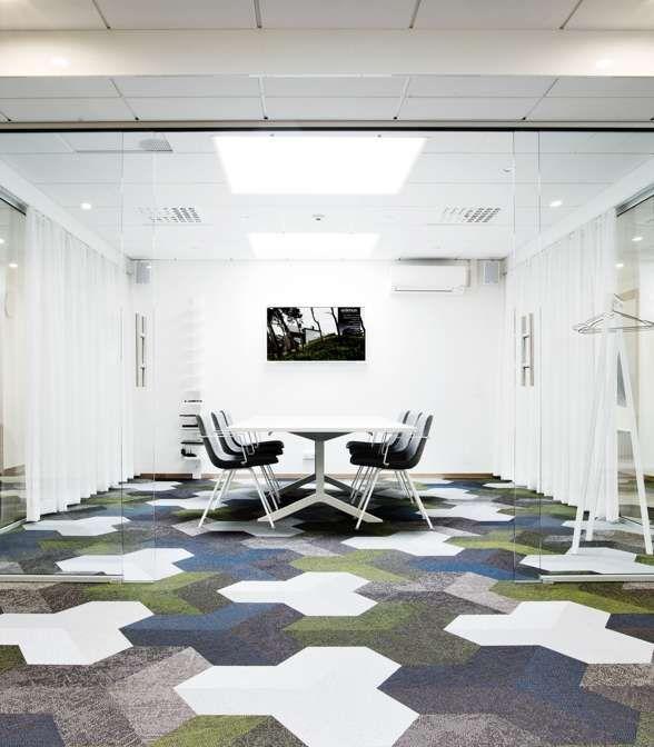 Bolon flooring in the office of Etikhus in Varberg, Sweden
