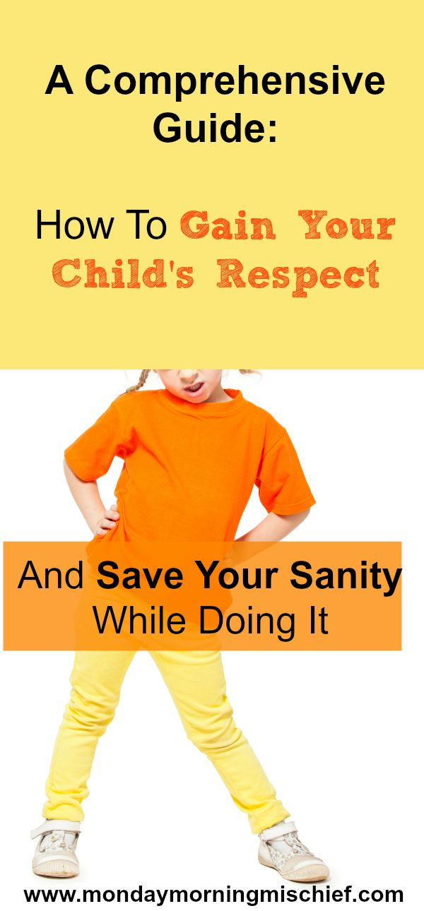 How To Gain Your Child's Respect You have to give to get and what that means. Treat your child with respect. That's right. You have to treat your child the way you expect others to treat you. Just because children are younger, smaller, more immature and lack coping skills adults may have, does not mean …