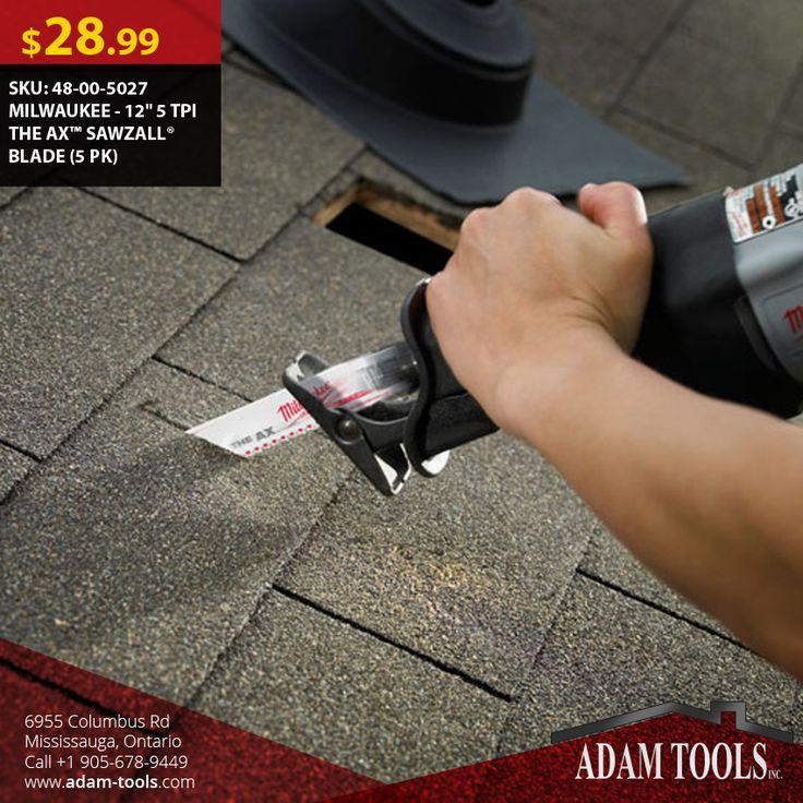 """Now available at Adam tools with great price MILWAUKEE - 12"""" 5 TPI THE AX™ SAWZALL® BLADE (5 PK) Visit our website for more information and special offers ...  http://www.adam-tools.com/milwaukee-12-5-tpi-the-axtm-sawzallr-blade-5-pk.html #canada #mississuaga #power_tools #building_supplies #adamtools #shop_online #buy_online #Powertools #tools #Sawzall #MILWAUKEE"""