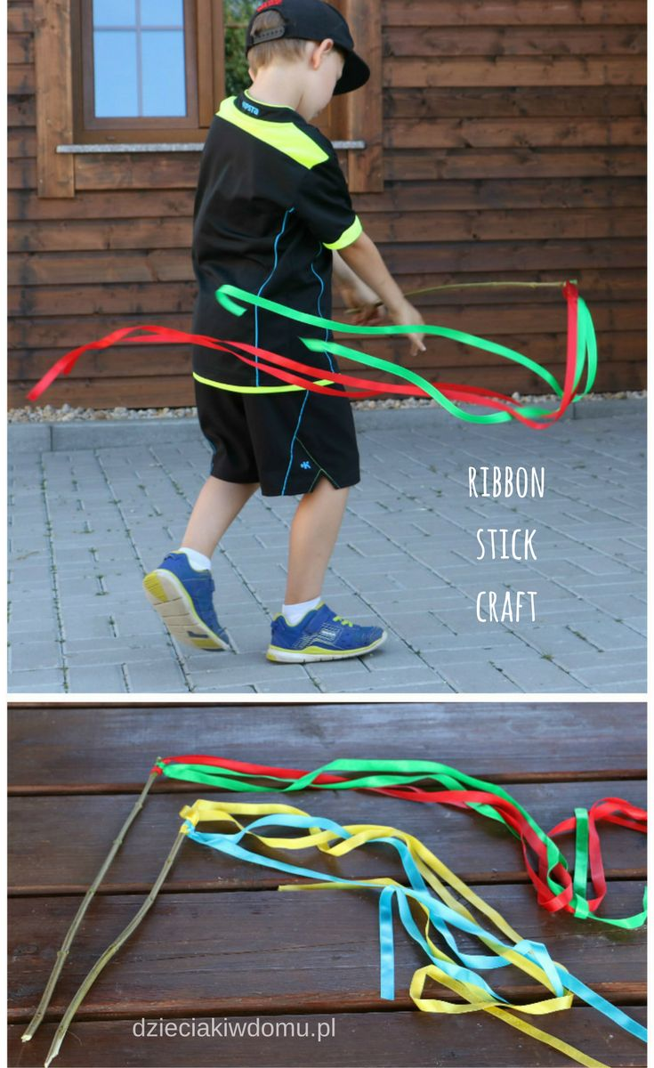 ribbon stick craft for kids
