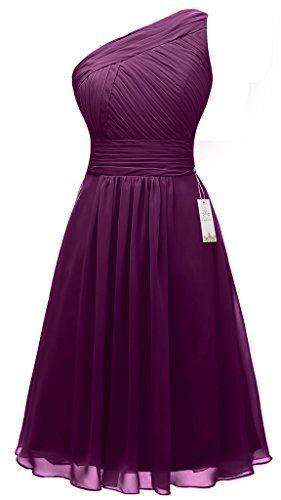 Eudolah Wedding One-shoulder Chiffon Bridesmaid Dress Short Homecoming Dance Gown Plum Size 6 Eudolah http://www.amazon.com/dp/B017LRUY5U/ref=cm_sw_r_pi_dp_dgzPwb0W99K70