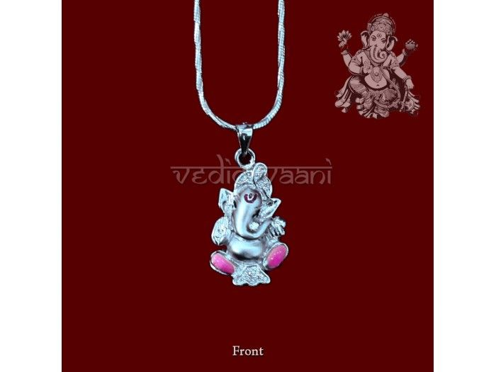 Ganesha Locket with Chain in Sterling Silver buy online from India.