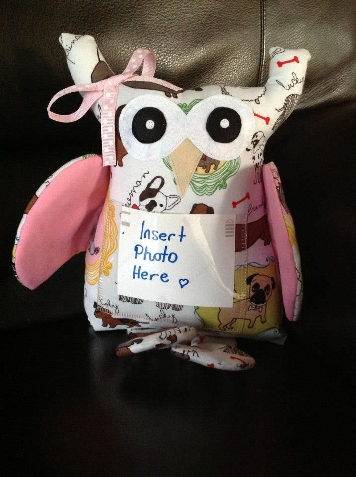 Handmade by Fly Sew High Designs. This gorgeous Memory Owl