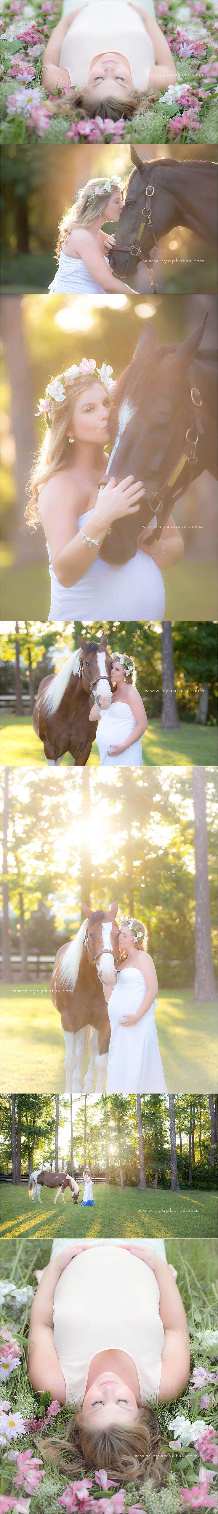 summer maternity photo shoot with flowers and horses- jacksonville's maternity photographer via: http://ryaphotos.com/newborn/magical-summer-shoot-jacksonvilles-maternity-photographer/