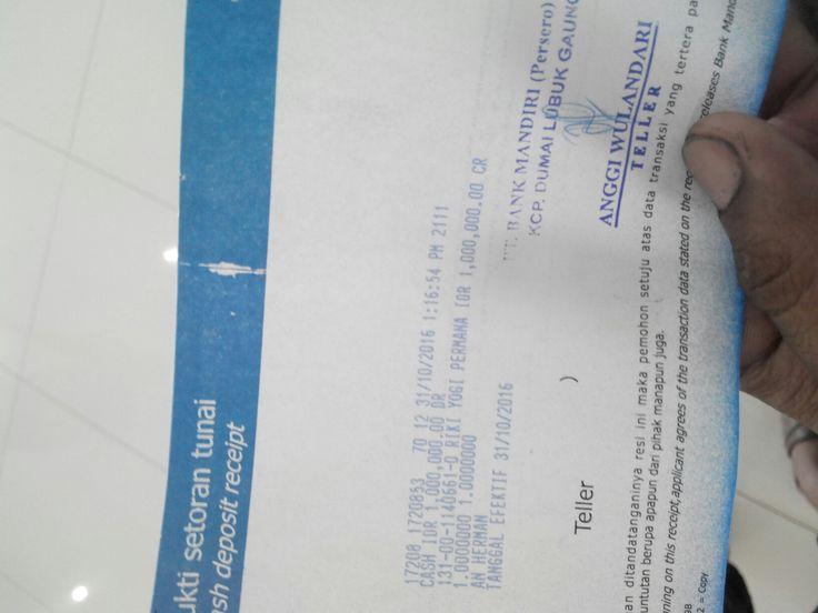 Sudah d terima ko zhang li untuk dp senapannya segera d proses  #buktitransaksi  #TokoCanonSport   www.canonsport.com