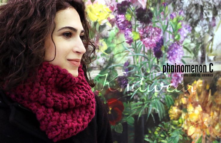 Beautiful, handmade, high percentage pure wool, neck warmer. It can be used as headwear as well!  For more find us on fb:  https://www.facebook.com/PhainomenonC