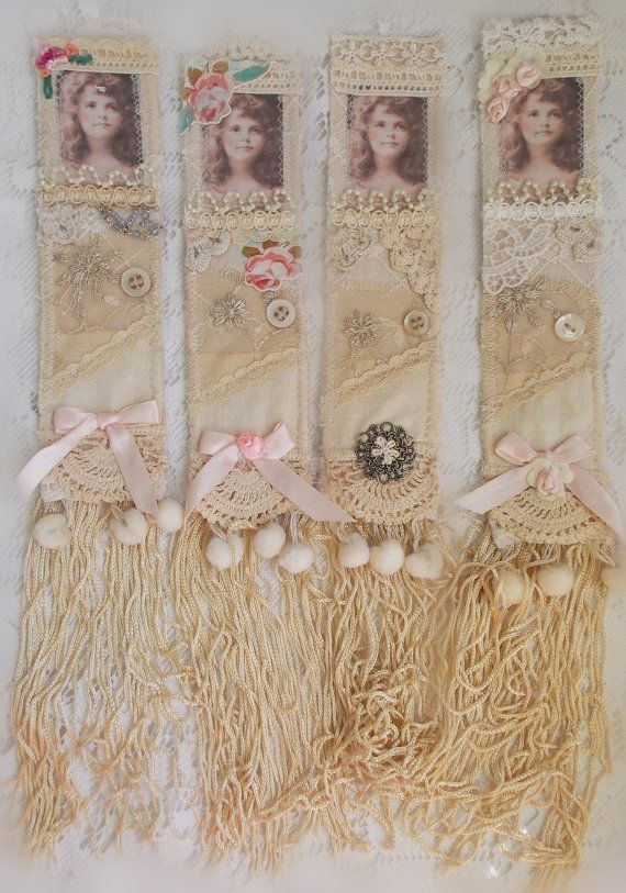 @:  Lace Doily Bookmarker