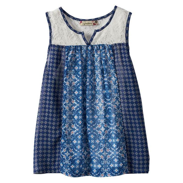 Girls 7-16 Speechless Printed Chiffon Tank Top, Girl's, Size: