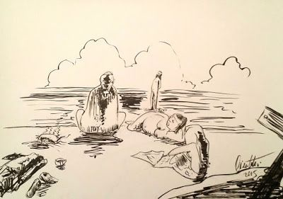 millevignette di ignazio piscitelli: Ferie di agosto di una famiglia tradizionale: Pret...