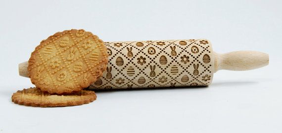 Easter - MINI Embossing Rolling pin for kids, engraved rolling pin for kids. Kids' toys