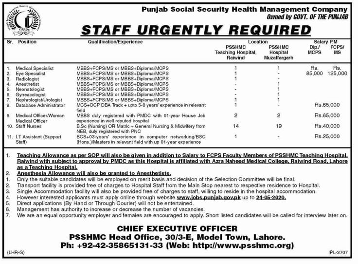 Punjab Social Security Health Management Company PSSHMC