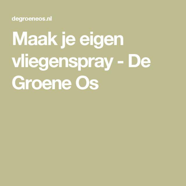 Maak je eigen vliegenspray - De Groene Os