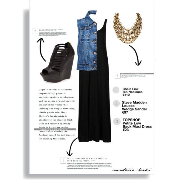 A fashion look from August 2014 featuring Topshop dresses, ONLY vests and Steve Madden sandals. Browse and shop related looks.