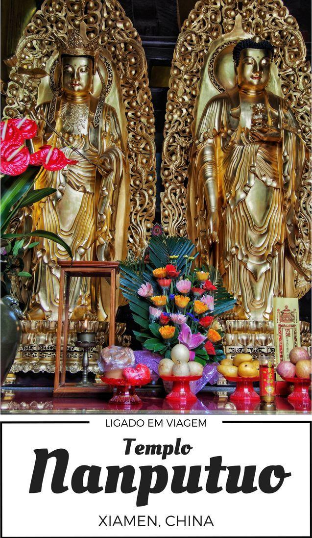 Nossa viagem para Xiamen na China e nosso roteiro passeando pelo Centro Antigo e pelo Templo Nanputuo e seus budas dourados.