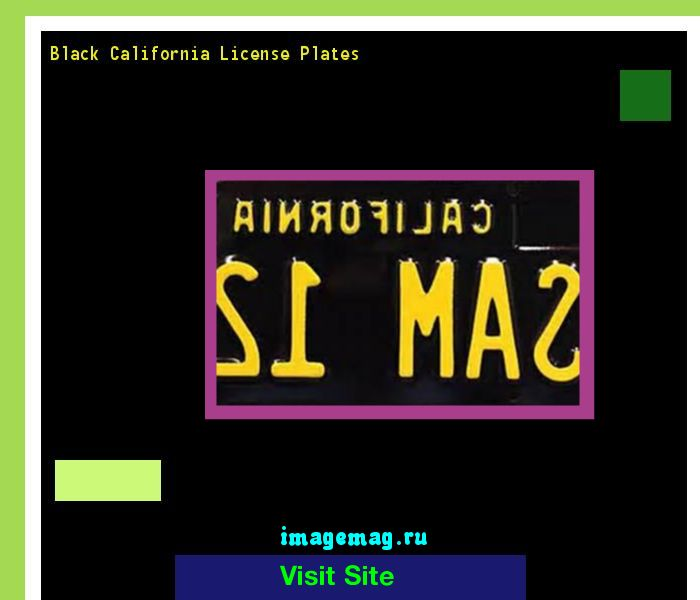 Black california license plates 155924 - The Best Image Search