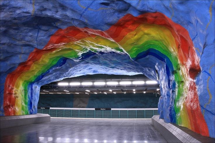Stockholm metro - Stadion station - Stockholm - Sweden