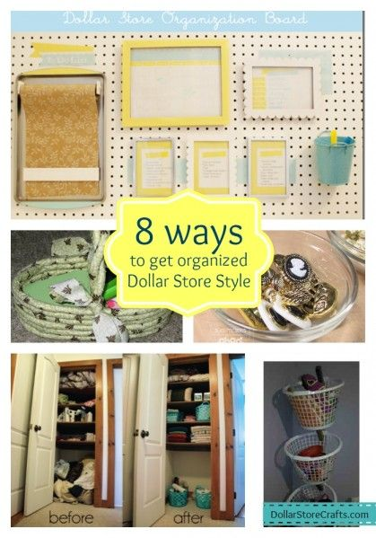8 ways to get organized with dollar store stuff dollar store crafts. Black Bedroom Furniture Sets. Home Design Ideas