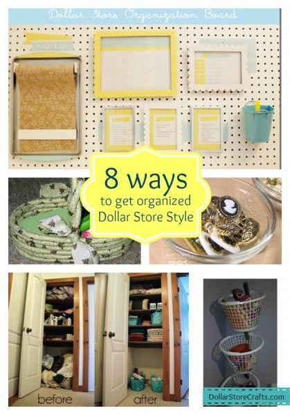 8 Ways to get organized with dollar store stuff! DollarStoreCrafts.com