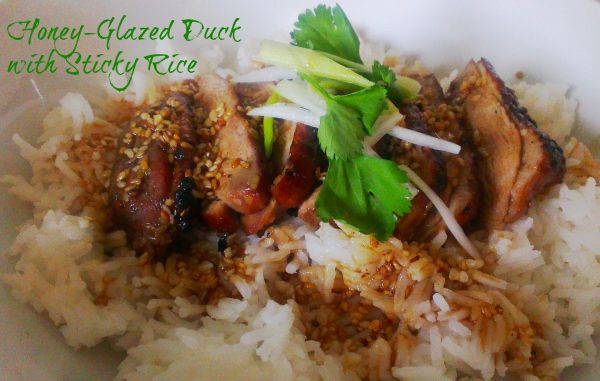 4 syns honey-glazed duck with sticky rice duck recipe glazed duck chinese duck