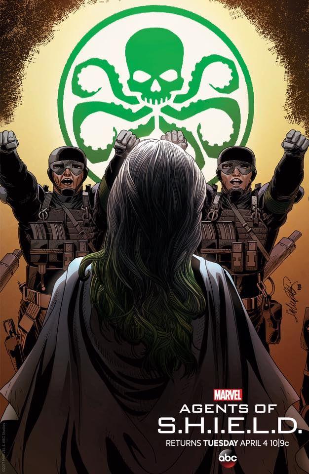 Hail Madame Hydra... Esa Noche. ABC.  #Marvel. Agents of SHIELD - Comics - Pop - Discovery - History - MarvelComics - Spiderman - xmen - Daredevil - IronMan - Hulk - Thor - Jessica Jones - Marvel Studios - Netflix - UCM - The Defenders - Disney - Agent Carter - Legion- deadpool- Doctor Strange - Marvel.