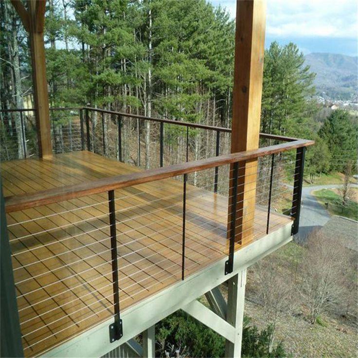 Cable railing balcony - Google Search   Deck railing ...