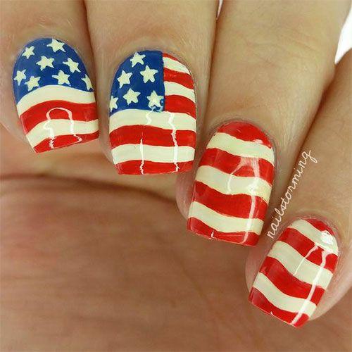 American Flag Nail Art Designs - 57 Best American Flag Nail Art Designs Images On Pinterest Nail