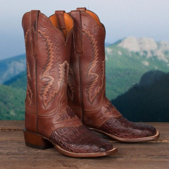 Lucchese+Ladies'+Cigar+Hornback+Caiman+Boots