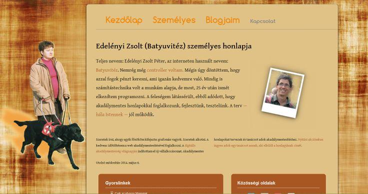 Honlapom 2. változata (2013 nyarától)