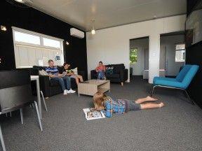 Taupo accommodation lake villa lounge