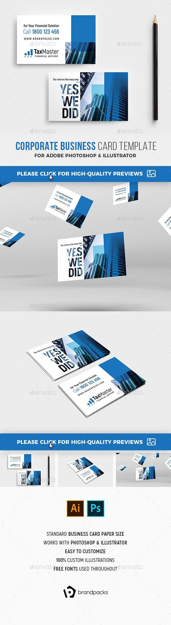 Business Card Corporate Business Card Cool Business Cards Business Card Template Psd
