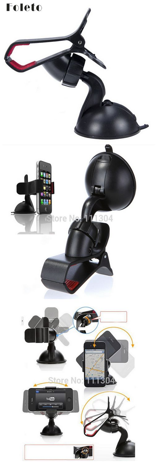 Free shipping Windshield 360 Degree Rotating Car Sucker Mount Bracket Holder Stand Universal for Phone GPS Tablet PC Accessories http://s.click.aliexpress.com/e/qja66uJ