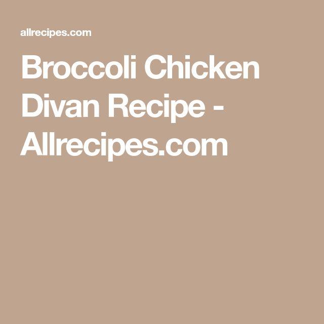 Broccoli Chicken Divan Recipe - Allrecipes.com