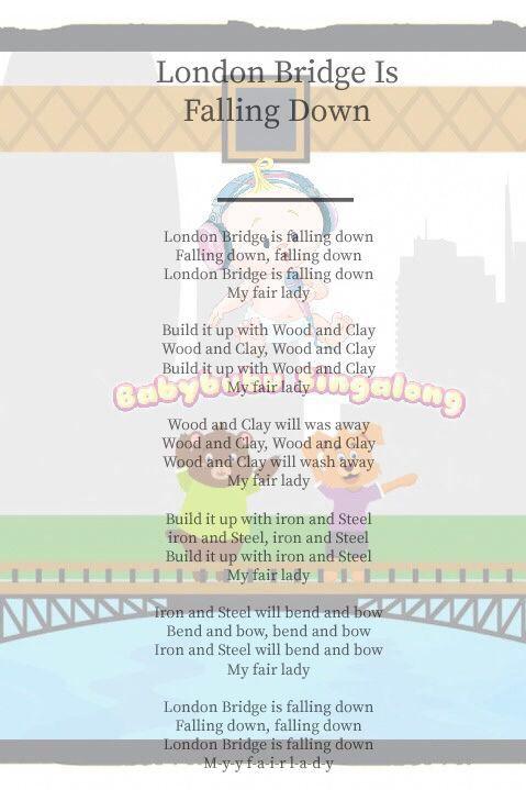 Lyrics to London Bridge Is Falling Down