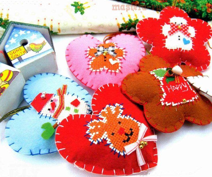 Схема для вышивки: Новогодние игрушки с вышивкой