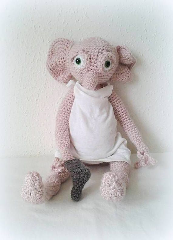 Crochet Dobby, the house Elf